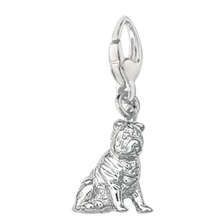 Sterling Silver Chinese Shar-pei Dog Charm