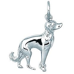 Sterling Silver Chinese Crested Dog Charm