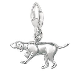 Sterling Silver Pointer Dog Charm