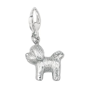 Sterling Silver Fox Terrier Wire Dog Charm