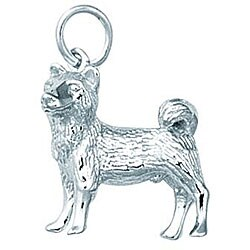 Sterling Silver Akita Dog Charm