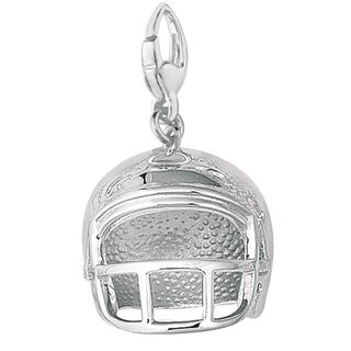 Sterling Silver Large Football Helmet Charm