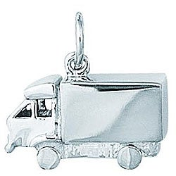 Sterling Silver Transport Truck 3-D Charm
