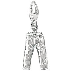 Sterling Silver Jeans Charm
