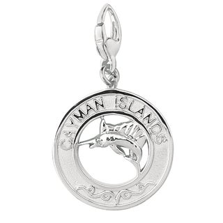 Sterling Silver Cayman Islands Disc Charm