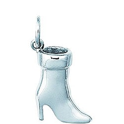 Sterling Silver Ladies Low Top High Heel Boot Charm