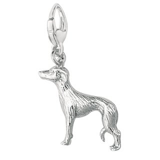 Sterling Silver Greyhound Charm