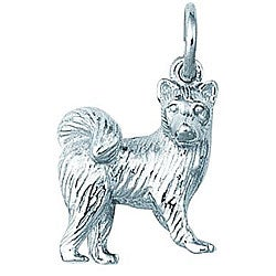 Sterling Silver Samoyed Dog Charm