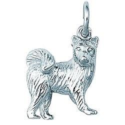 Sterling Silver Samoyed Dog Charm