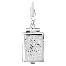 Sterling Silver 'Rectangular Book' Charm