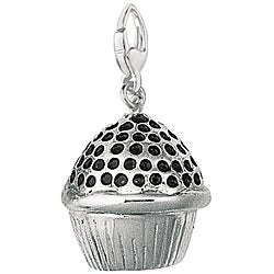 Sterling Silver 'Cupcake' Charm
