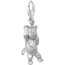 Sterling Silver Playful Cat Charm
