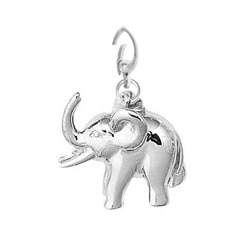 Sterling Silver Smiling Elephant Charm