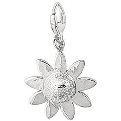 Sterling Silver Abstract Daisy Charm