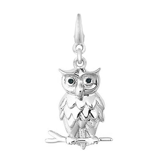 Sterling Silver Owl On a Branch Charm
