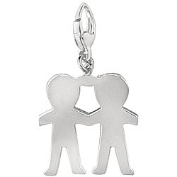 Sterling Silver Little Boys Charm