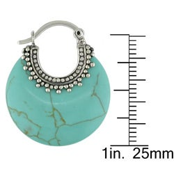 Miadora Sterling Silver Turquoise Earrings