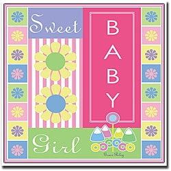 Grace Riley 'Sweet Baby Girl' Framed Canvas Art