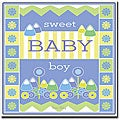 Grace Riley 'Sweet Baby Boy' Framed Canvas Art