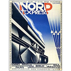 Adolphe Cassandre 'Nord Express' Framed Canvas Art