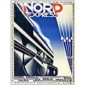 Adolphe Cassandre 'Nord Express' Framed Canvas Art