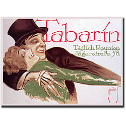 Ernst Deutsch 'Tabarin' Framed Canvas Art