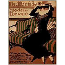 Paul Scheurich 'Buttericks Moden Revue' Framed Art