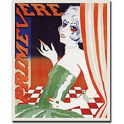 Magritte 'Primevere' Framed Canvas Art