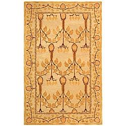 Safavieh Handmade Ancestral Tree Ivory/ Gold Wool Rug (5' x 8')