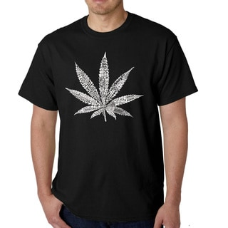 Los Angeles Pop Art Men's Marijuana Leaf T-shirt
