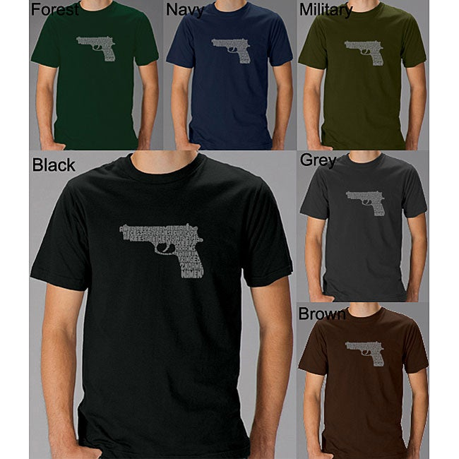 Los Angeles Pop Art Men's Gun T-shirt