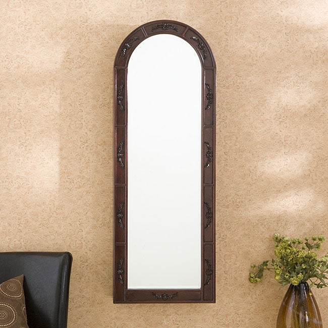 Upton Home Merriman Wall-mounted Dark Cherry Jewelry Armoire Black Felt Interior at Sears.com