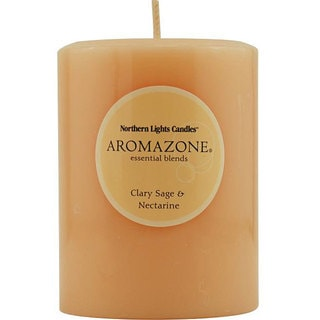 Essential Blend Calry Sage and Nectarine Pillar Candle