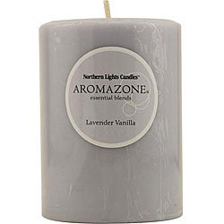 Lavender and Vanilla Essential Blend 4-inch Pillar Candle