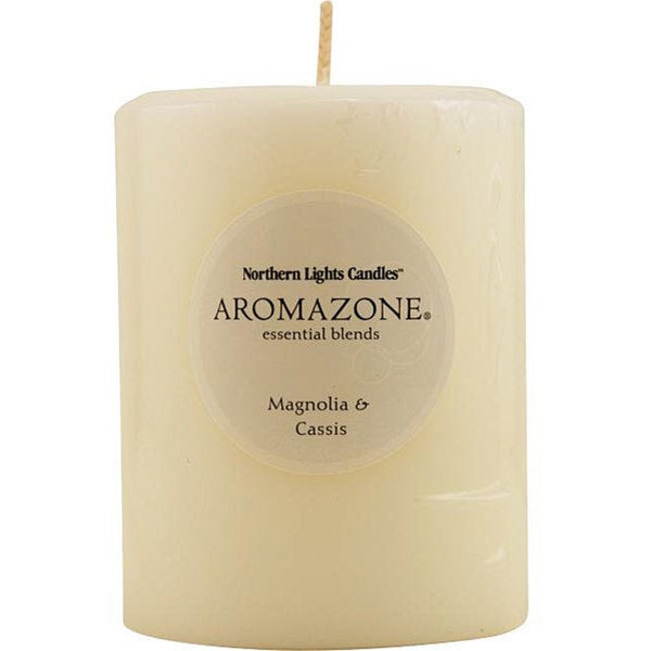 Magnolia and Cassis Essential Blend 4-inch Pillar Candle