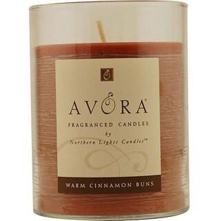 Warm Cinnamon Buns Scented 3x4.5-inch Glass Pillar Candle