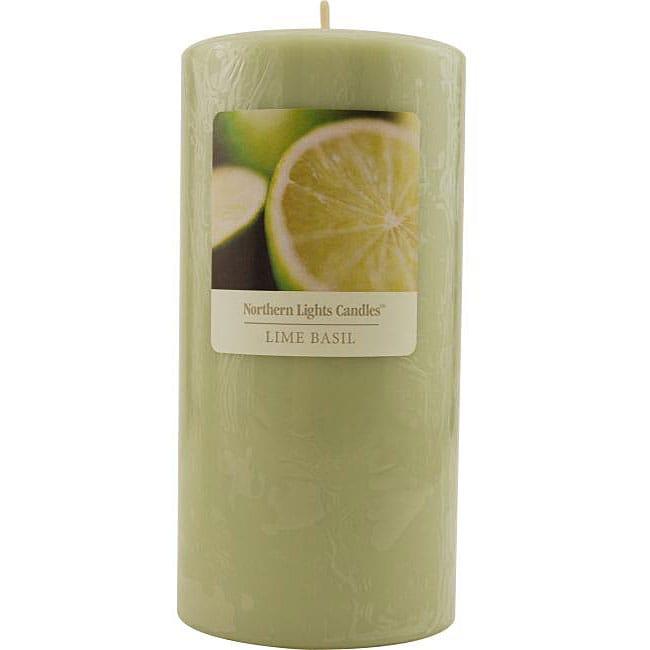 Essential Blend 3x6-inch Lime Basil Pillar Candle