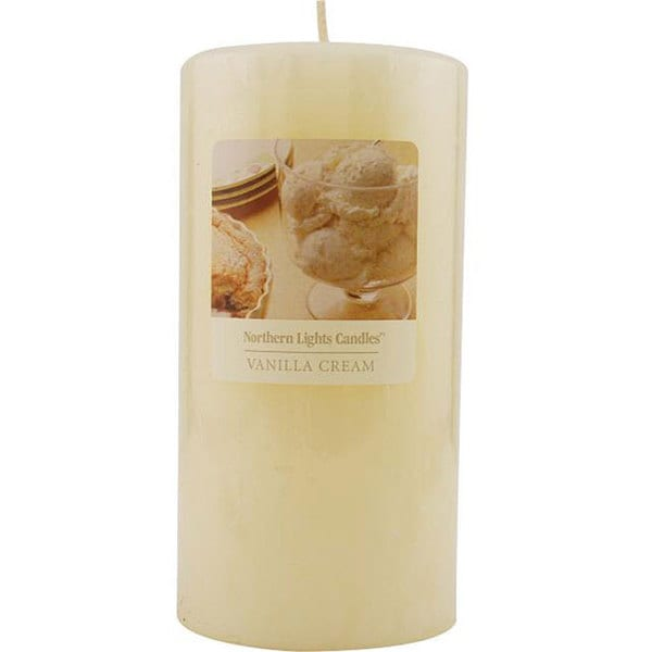 Vanilla Cream Essential Blend 3x6-inch Pillar Candle