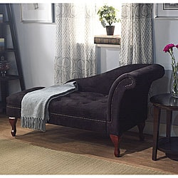 Black Storage Chaise
