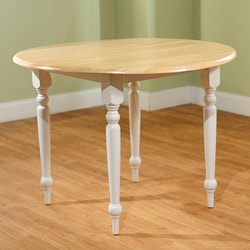 Simple Living Rubberwood 40-inch Diameter Round Drop-leaf Table