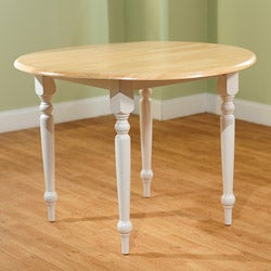 Rubberwood 40-inch Diameter Round Drop-leaf Table