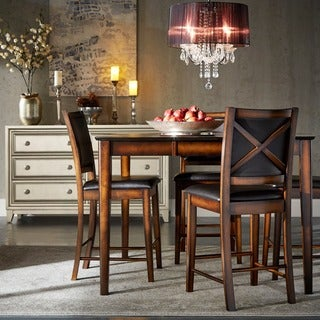Tribecca Home Frisco Bay Burnished Oak 24-inch Counter Chairs (Set of 2)