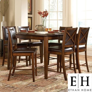 ETHAN HOME Frisco Bay Burnished Oak 5-piece Counter Dining Set