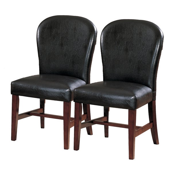 TRIBECCA HOME Camberwell Dark Brown Side Chairs (Set of 2)