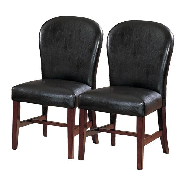 TRIBECCA HOME Camberwell Dark Brown Side Chairs (Set