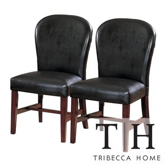 Tribecca Home Camberwell Dark Brown Side Chairs (Set