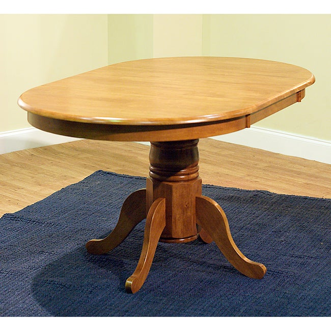 Rubberwood Round Oval Farmhouse Table Dining Room