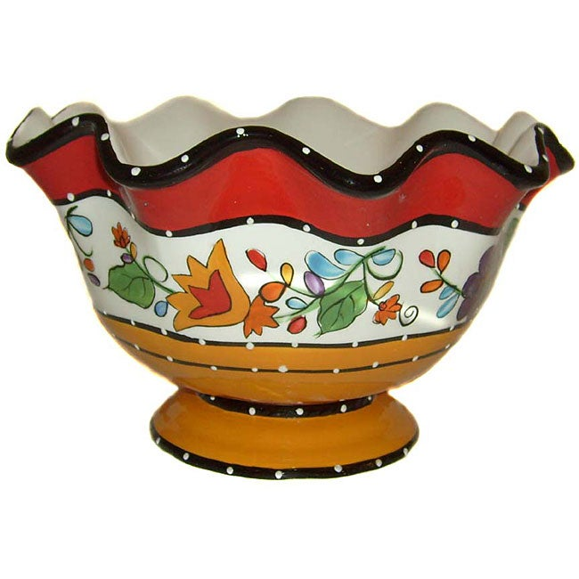Viva Collection Hand-painted Fruit Bowl