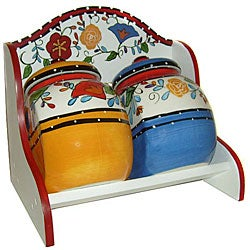 Viva Collection Hand-painted 2-piece Jar Set