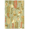 Handmade Ferns Contemporary Light Blue Wool Rug (3'9 x 5'9)